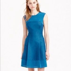 J Crew Perforated A-Line Dress